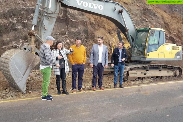 Las obras de la Curva del Estudiante en Villa de Mazo ya están en marcha