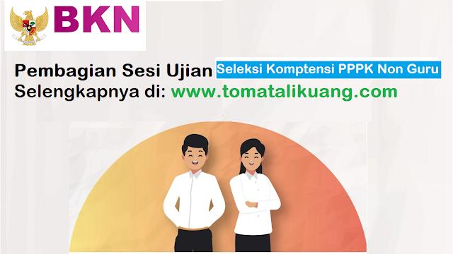 jadwal pembagian sesi ujian 1 2 3 seleksi kompetensi teknis pppk non guru tahun 2021 tomatalikuang.com