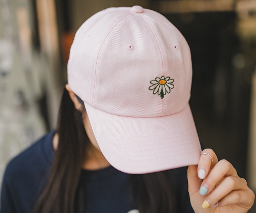 Embroidered Print Baseball Cap