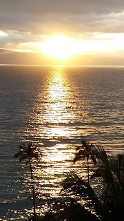 Sunset Over Maui.