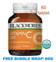 Exp 2022 Blackmores Vitamin C / Vit C 500 mg / 500mg 60 Tablets Cold Relief BPOM Kalbe Farma