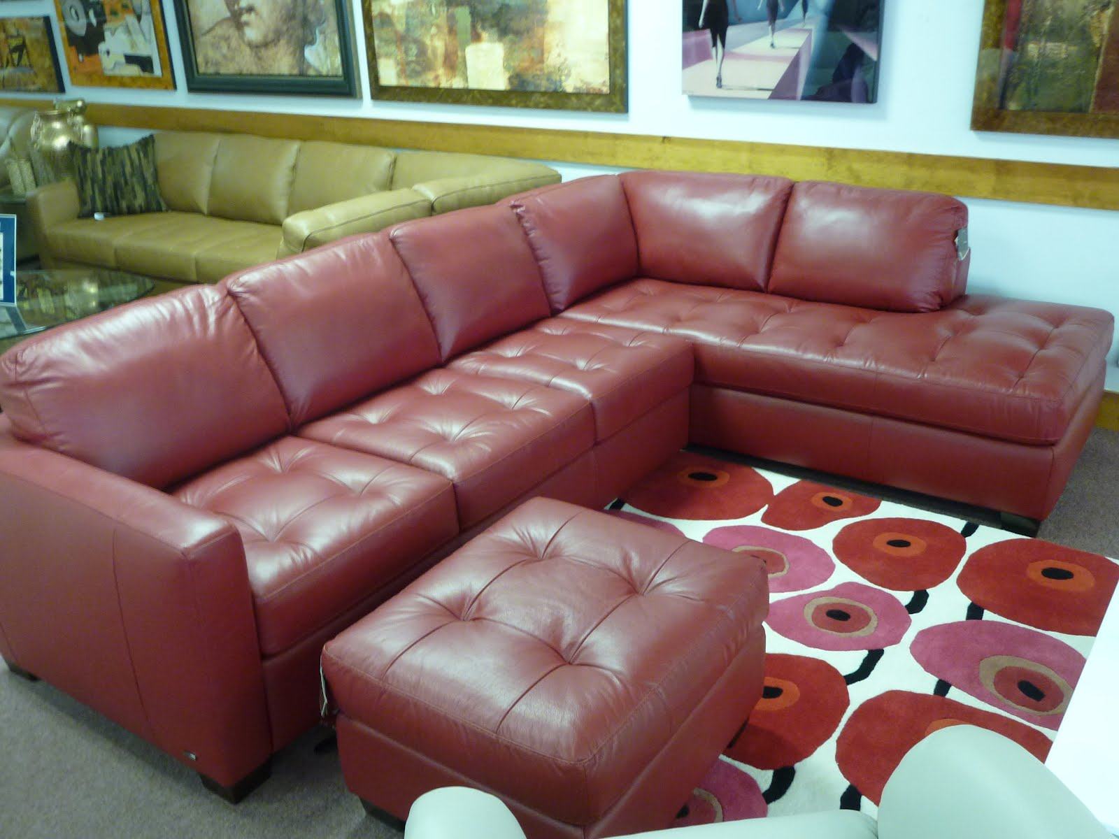 natuzzi red leather sofa and chair modern table gl sofas sectionals by interior concepts