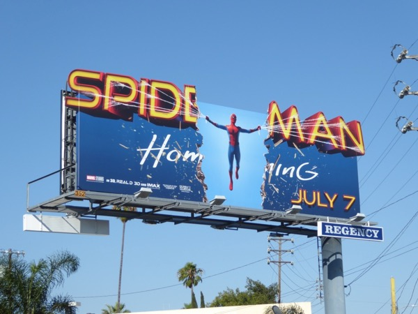 Spiderman Homecoming movie billboard
