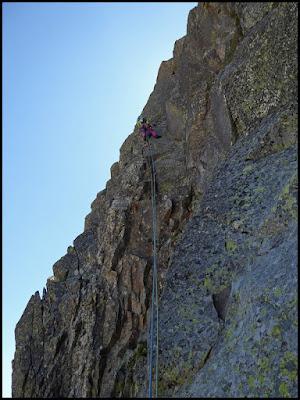 Escalando el espolón Nor Oeste del Pic de Ribuls