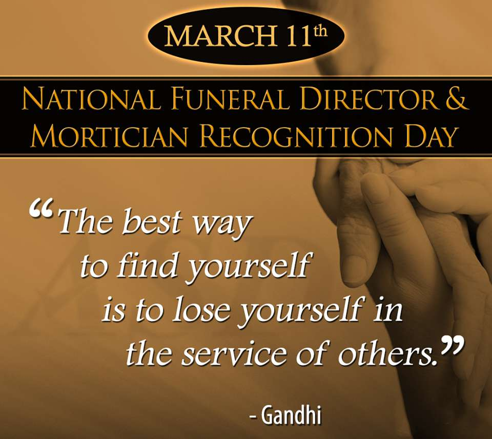 National Funeral Director and Mortician Recognition Day Wishes Unique Image
