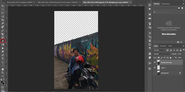 cara edit photoshop seperti beradai di luar negeri