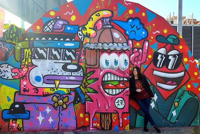 Jardin de les Tres Xemeneies graffitti