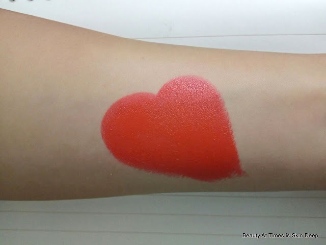 Elle 18 Color Pop Matte Lipstick Coral Dose swatch