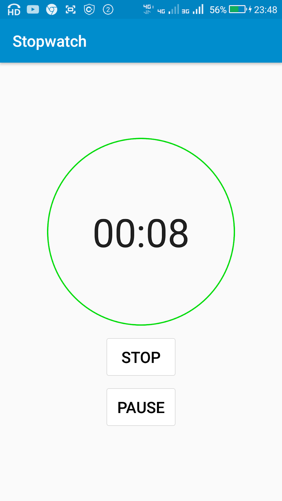 Create a Stopwatch App using Chronometer in Sketchware