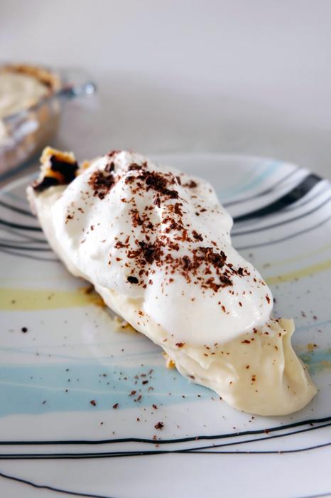 slice of fudge bottom pie on plate