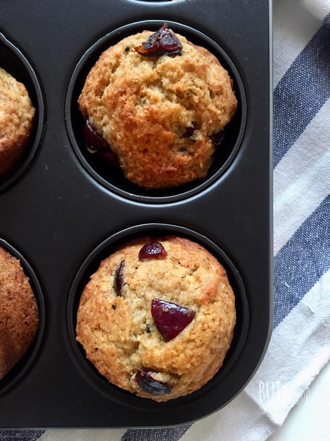Banana Cherry Eggless Muffins