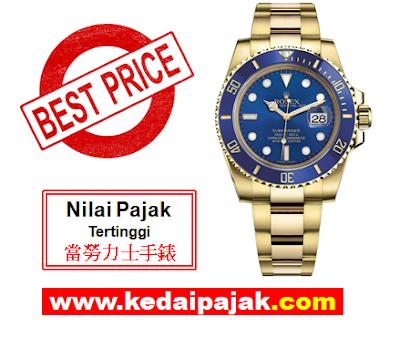Pajak Rolex (Rolex Submariner Dipajak Dengan RM80,000 - kedaipajak.com)