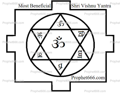 Most Beneficial Hindu Shri Vishnu Yantra