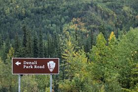denali national park entrance sign