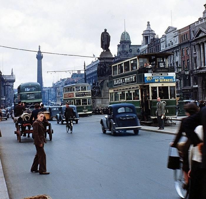 O'Connell Street, Dublin Ireland 1949