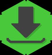 download hexagon icon