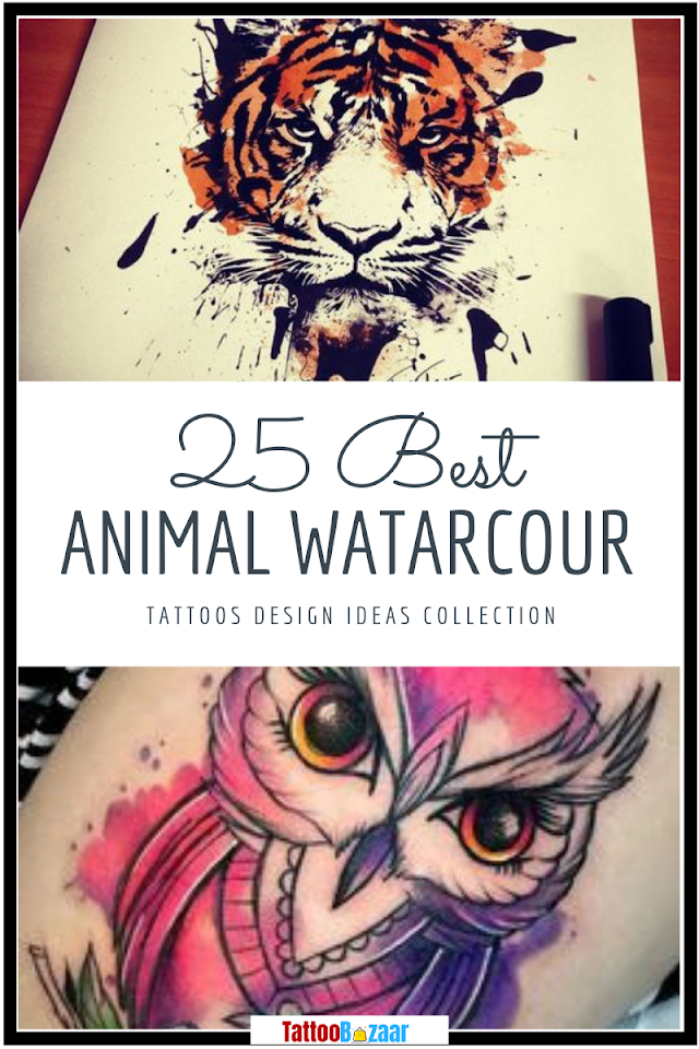 25 Best Animal Watercolor Tattoos Design Ideas