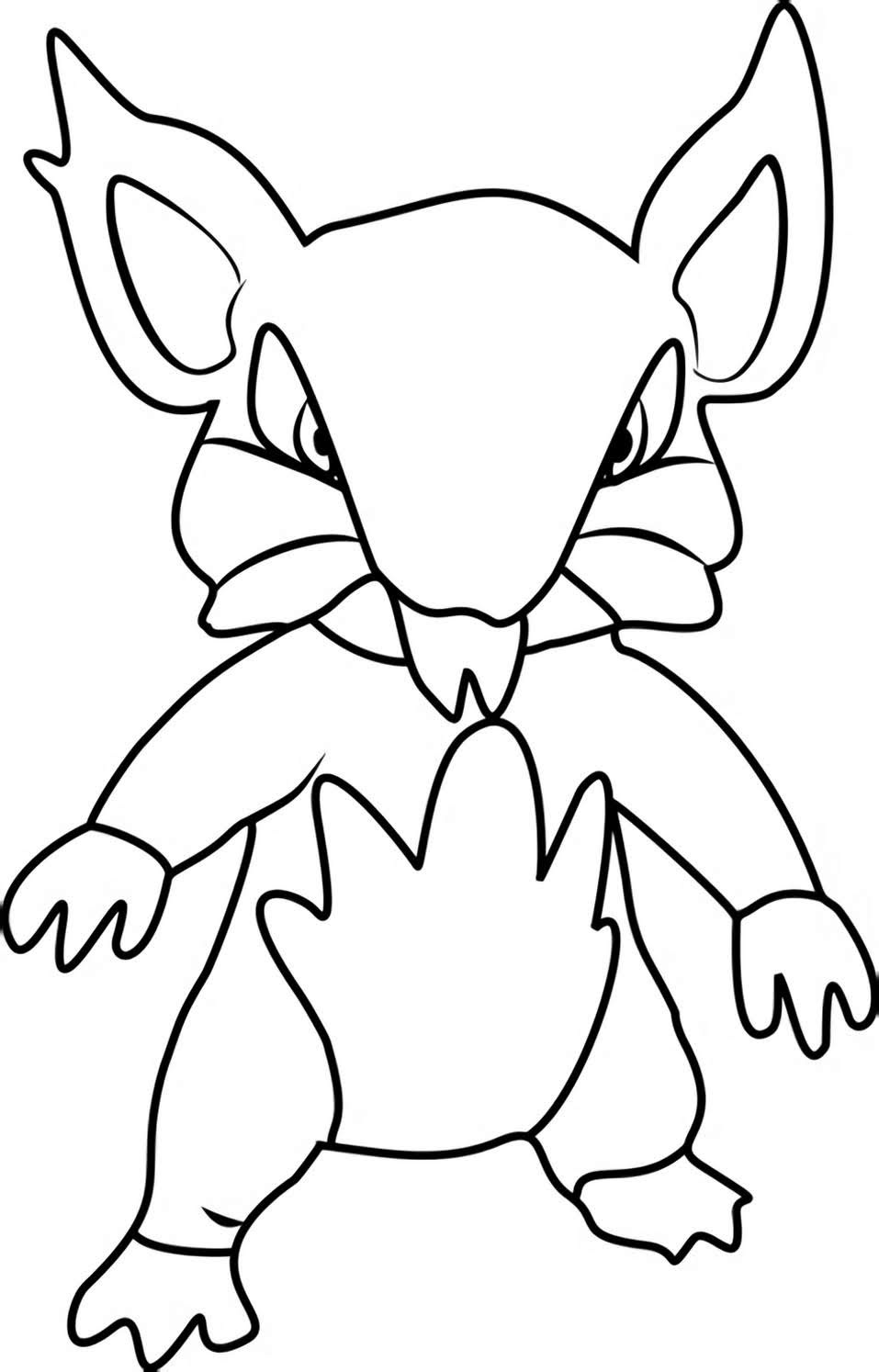 Rattata Pokemon Coloring Pages To Print Free Pokemon Coloring Pages