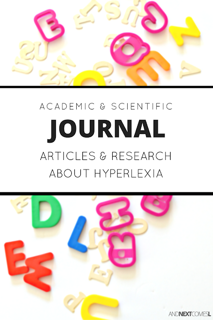 Scientific research and articles about hyperlexia, as well as hyperlexia intervention and teaching strategies