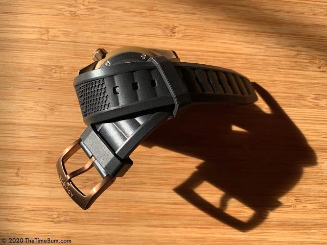 Advisor SUPA Diver bronze rubber strap
