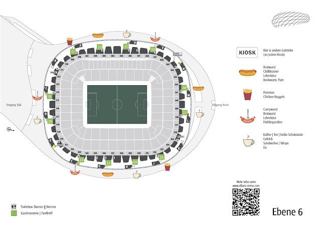 Die Kioske zum schnellen Genuss Allianz Arena, Allianz arena Sitzplan Block Reihe, allianz arena münchen sitzplan, Allianz arena parken, sitzplan allianz arena münchen,allianz arena sitzplan reihen