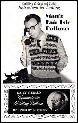 Vintage knitting pattern leaflet, 1950s