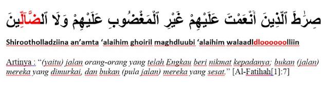 Contoh Mad Lazim Mutsaqqal Kilmi dalam Surat Al Fatihah