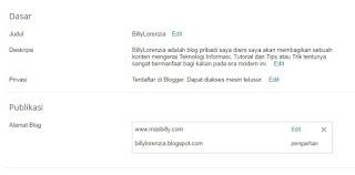 mengganti domain,