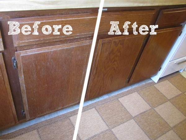 how to fix scratches on kitchen cabinets fond of a fast fix for faded wood cabinets 16975