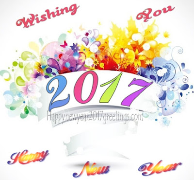 (Happy} New Year 2017 Colorful Beautiful Greetings Cards