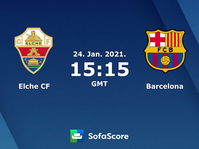 مشاهدة مباراة إلتشي و برشلونة بث مباشر