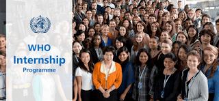 World Health Organization (WHO) 6 Months Internship Programme 2019