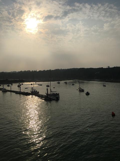 sunset over Fishbone, Isle of Wight