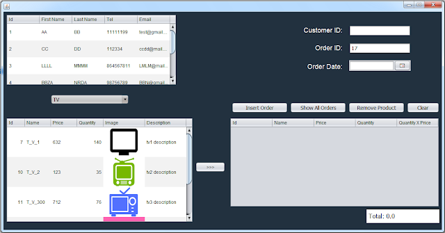 java inventory system - manage orders