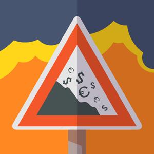crisis flat icon