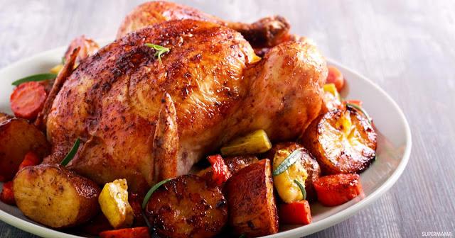 طريقة شوي الدجاج بالكيس الحراري