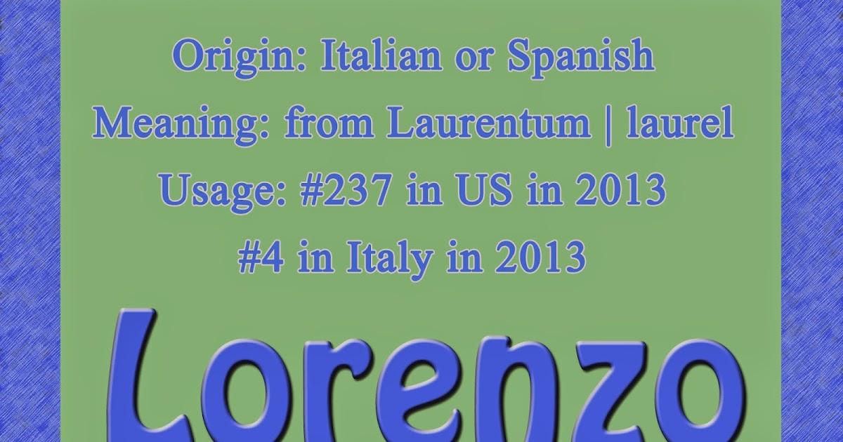 Italian Boy Name: The Art Of Naming: Lorenzo