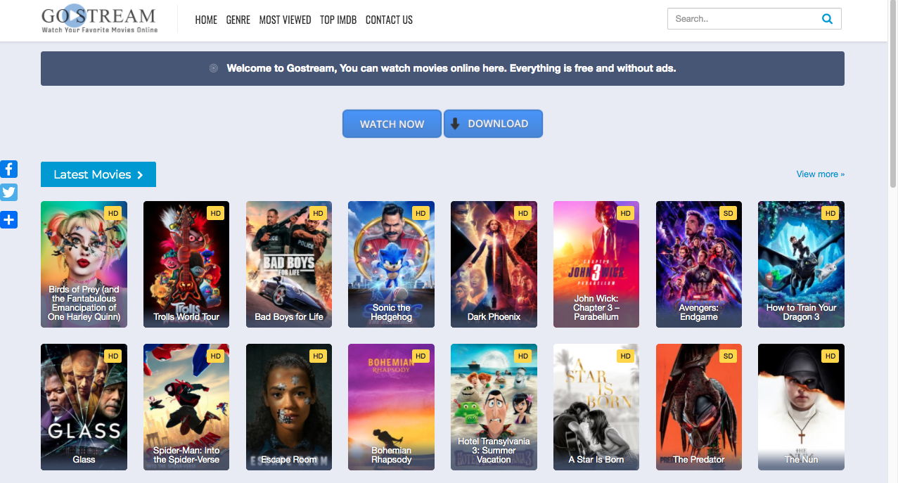 Top 10 Best Sites Like Gostream To Watch Movies Online Free Full Movie No Sign Up