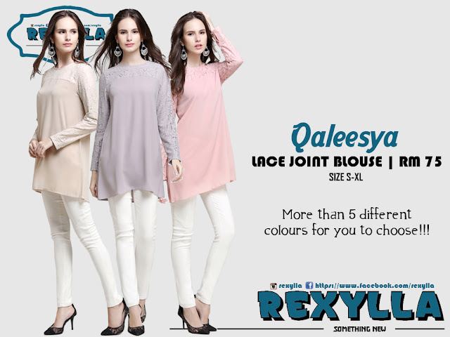 rexylla, lace, lace joint, blouse, qaleesya collection