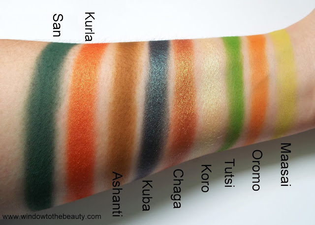 Juvia's Place Tribe swatches and review