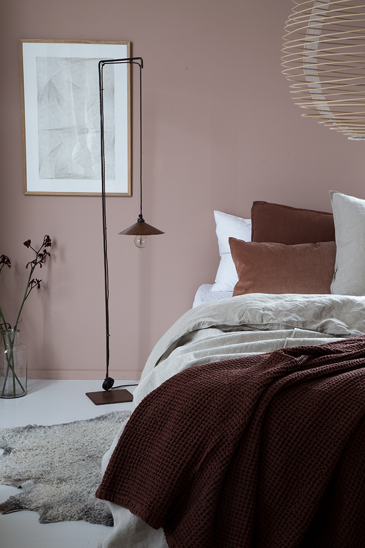 the accent wall is painted in jotun lady pure blushing peach which i think makes the room feel so cosy and warmer too something of a necessity in the - My Bedroom