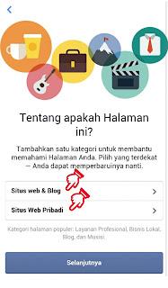 Kategori dan Subkategori Halaman atau Fanspage Facebook