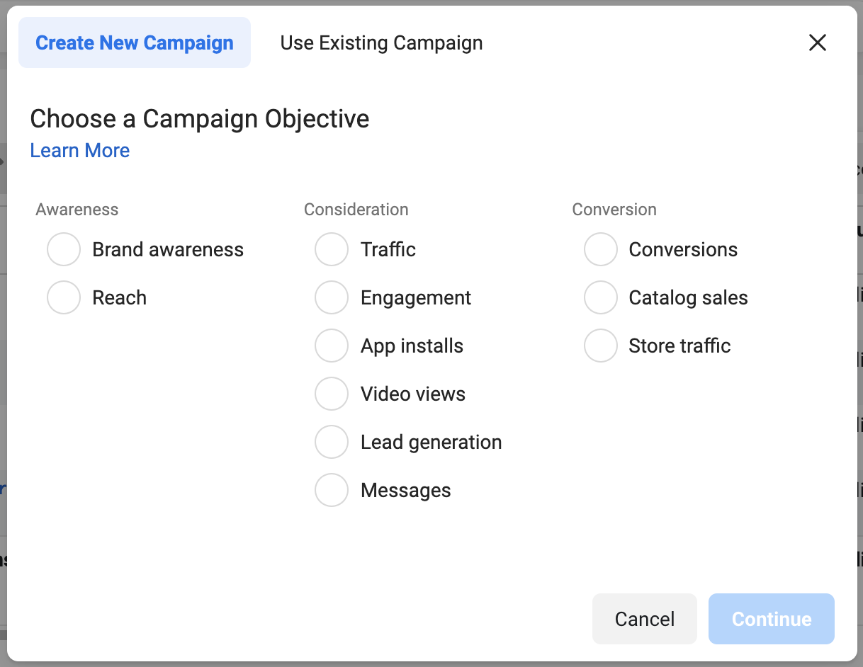facebook-campaign-objective