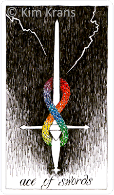 Ace of Swords Wild UnknownTarot Kim Krans Blog blogger