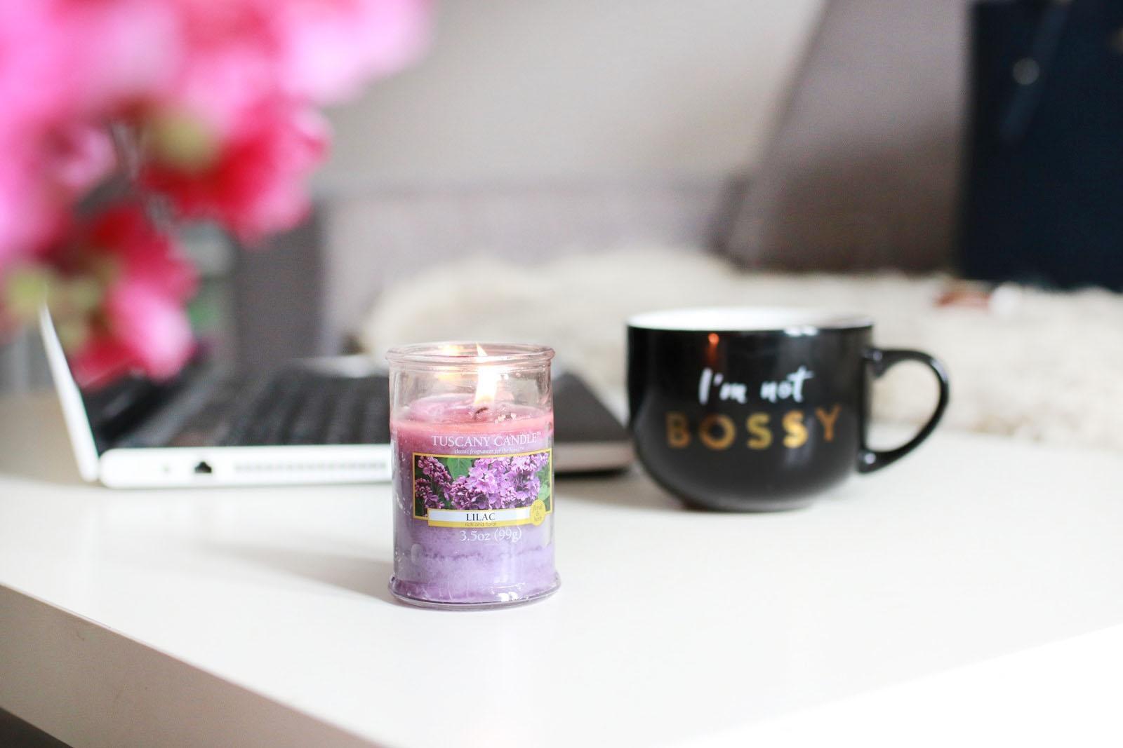 Przywołuję wiosnę... czyli przepis na niepogodę! {Tuscany Candle Lilac}