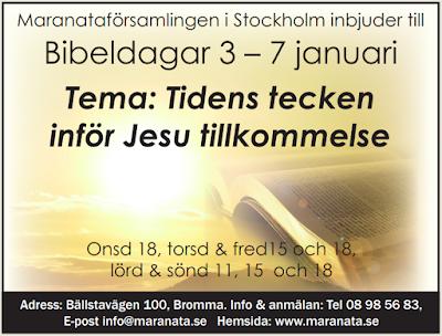 Lyssna till undervisning från Bibeldagar 3 - 7 januari
