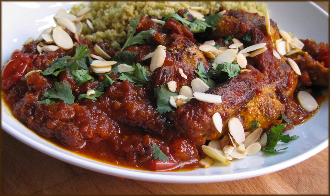 Moroccan Chicken Tagine with Dates and Honey