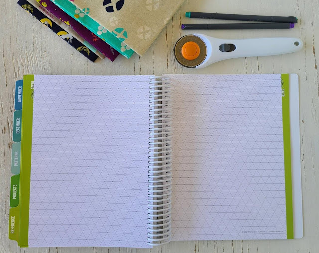 Triangle graph paper in the Quilter's Planner