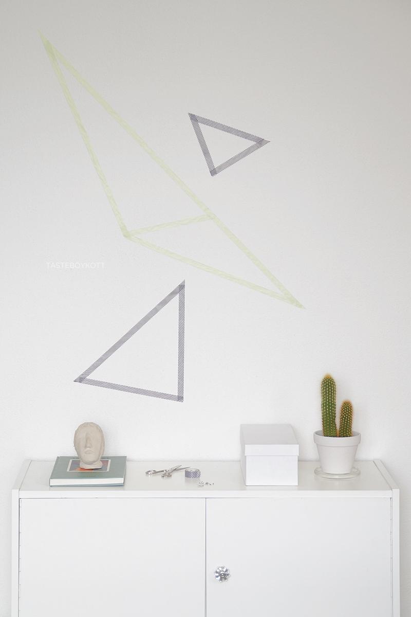 DIY geometrische Wanddeko mit Masking Tape | Tasteboykott