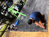 人造草皮複層地墊施工